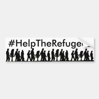 #HelpTheRefugeesのバンパーステッカー バンパーステッカー