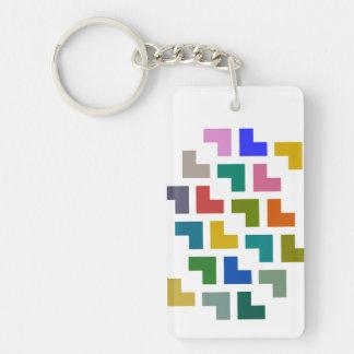 Helpy/長方形(両面の) Keychain キーホルダー