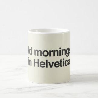 Helveticaのはっきりしたな朝 コーヒーマグカップ