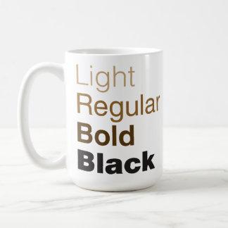 Helvetica家族のコーヒー・マグ コーヒーマグカップ