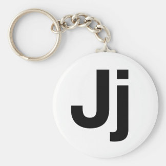 Helvetica Jj キーホルダー