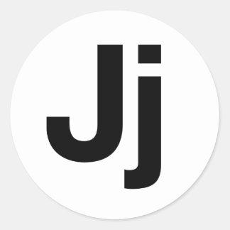 Helvetica Jj ラウンドシール