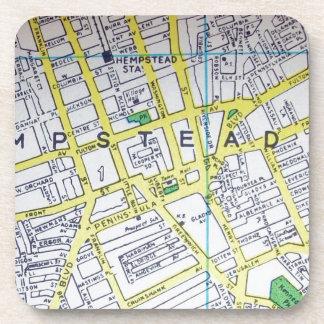 HempsteadのNYのヴィンテージの地図 コースター