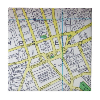 HempsteadのNYのヴィンテージの地図 タイル