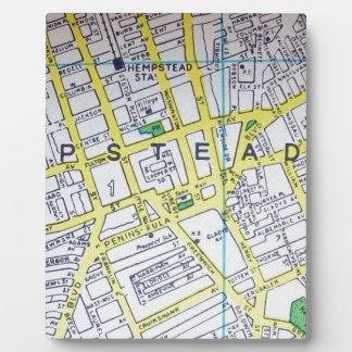 HempsteadのNYのヴィンテージの地図 フォトプラーク