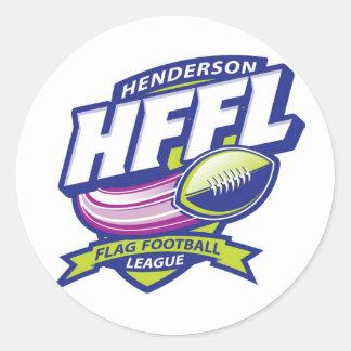 Hendersonのフラグフットボールリーグ ラウンドシール