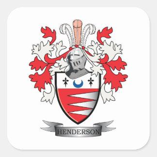Hendersonの家紋の紋章付き外衣 スクエアシール