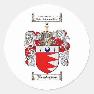 HENDERSONの家紋- HENDERSONの紋章付き外衣 ラウンドシール