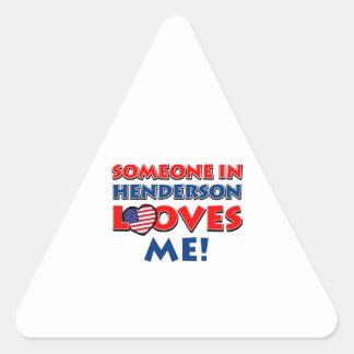 HENDERSONの誰かは私を愛します 三角形シール
