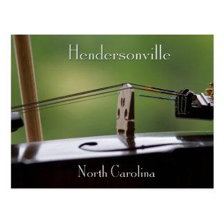 HendersonvilleのNC音楽 ポストカード