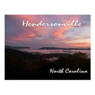 Hendersonvilleノースカロライナの日没 ポストカード