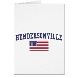 Hendersonville米国の旗 カード