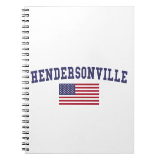 Hendersonville米国の旗 ノートブック