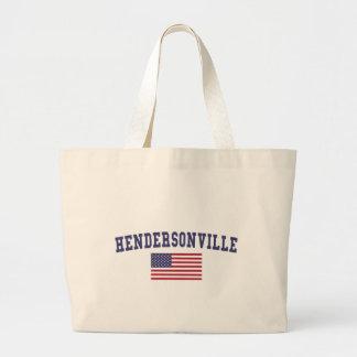 Hendersonville米国の旗 ラージトートバッグ