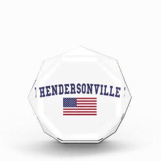 Hendersonville米国の旗 表彰盾