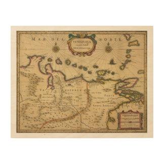 Hendrik Hondius (1630年)著ベネズエラの地図 ウッドウォールアート