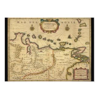Hendrik Hondius (1630年)著ベネズエラの地図 カード