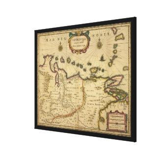 Hendrik Hondius (1630年)著ベネズエラの地図 キャンバスプリント