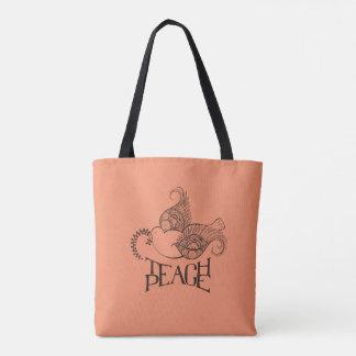 Hennaによってインスパイアデザインの平和バッグを教えて下さい トートバッグ