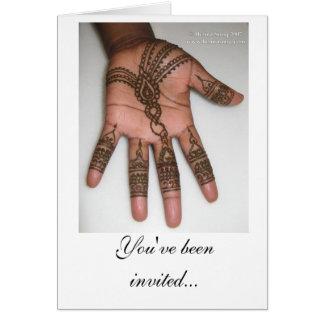 Hennaのパーティの招待状 カード