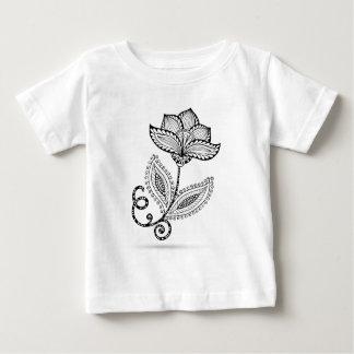 HennaのペイズリーのMehndiの落書き ベビーTシャツ