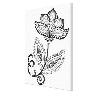 HennaのペイズリーMehndiは6つを落書きします キャンバスプリント