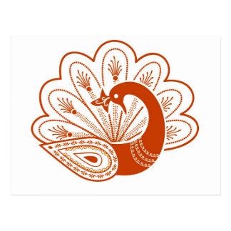 Hennaの孔雀 ポストカード