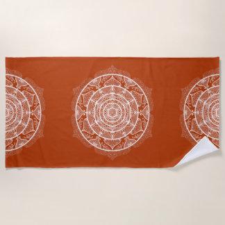 Hennaの曼荼羅 ビーチタオル