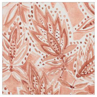 HENNAの習慣のBohoの植物の水彩画パターン ファブリック