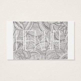 Hennaの芸術家の名刺 名刺