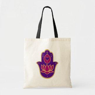 HennaのHamsaのはすピンク トートバッグ
