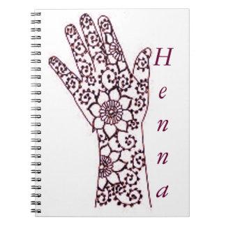 Henna手パターンノート ノートブック