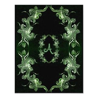 Henna緑のMehndi Bollywood カード