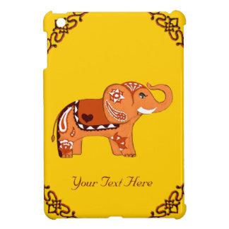 Henna象(オレンジか赤い) iPad Mini カバー