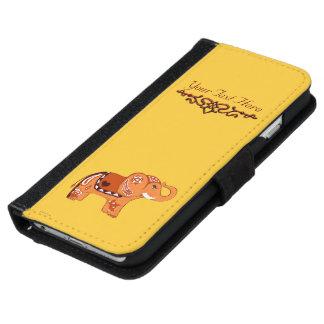 Henna象(オレンジか赤い) iPhone 6/6s ウォレットケース