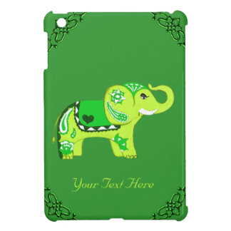 Henna象(緑かライムグリーン) iPad Miniケース