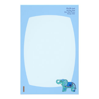 Henna象(青いですか淡いブルー) 便箋