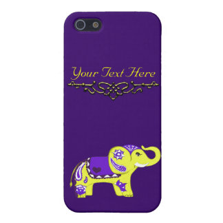 Henna Elephant (Yellow/Purple) iPhone 5 Cover