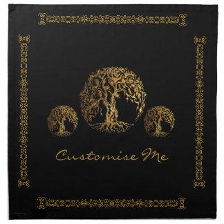 (Henna) Mehndiの生命の樹 ナプキンクロス