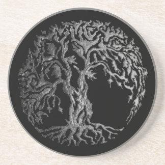 (Henna) Mehndiの生命の樹(銀) コースター