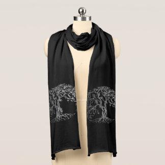 (Henna) Mehndiの生命の樹(銀) スカーフ