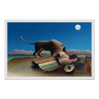 Henri Rousseau - The Sleeping Gypsy ポスター