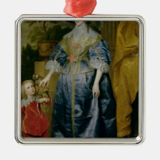 Henriettaマリア女王および彼女の小びと メタルオーナメント