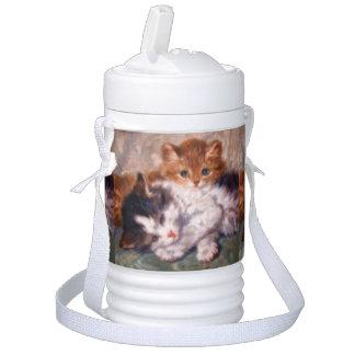 Henriëtte Ronner-Knip著2匹の子ネコの抱擁 ドリンククーラー