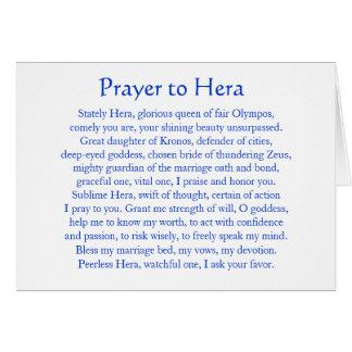 Heraへの祈りの言葉 カード