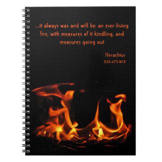 Heraclitusの永遠に続く火のノート ノートブック