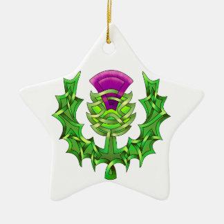 Heraldicアザミ 陶器製星型オーナメント