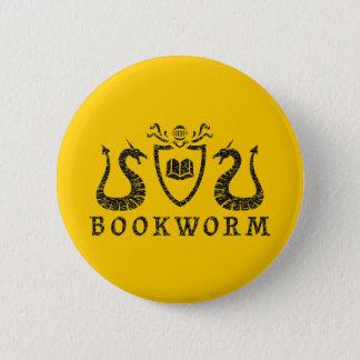 Heraldic本の虫ボタン 5.7cm 丸型バッジ
