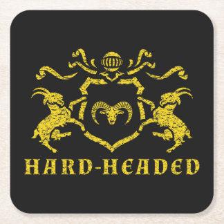 Heraldic頑固な正方形のコースター スクエアペーパーコースター