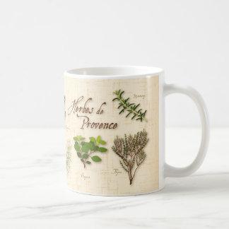 Herbes deプロバンスのラベンダー、タイム、オレガノ コーヒーマグカップ